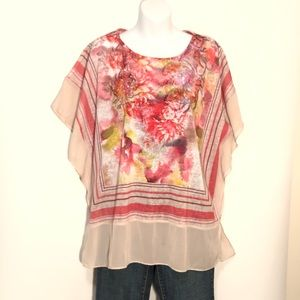 Chico's flower print top size 3-L.  A143